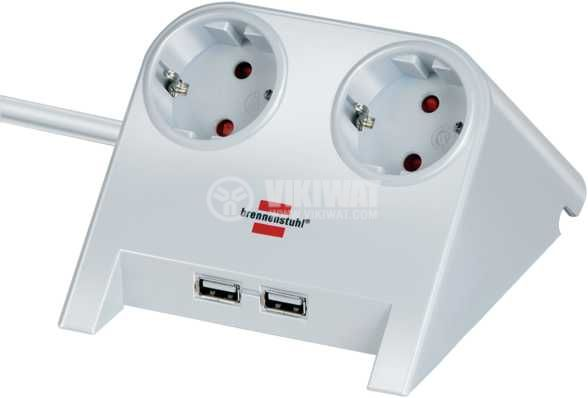 Socket Desktop Power 2x USB Brennenstuhl - 1