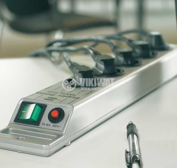 Разклонител 5-ца, Brennenstuhl, 3m кабел, сребрист, 1153340115 - 2