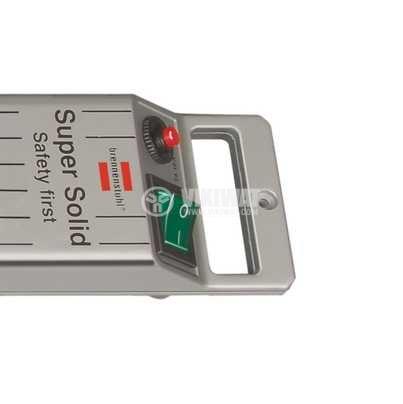Разклонител 5-ца, Brennenstuhl, 3m кабел, сребрист, 1153340115 - 4