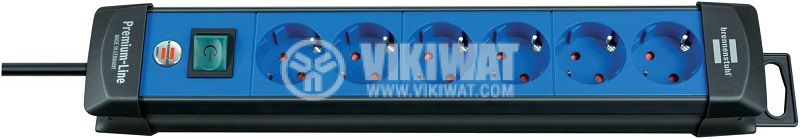 6-way extension socket, Brennenstuhl, Premium-Line, blue, 1951360100 - 1