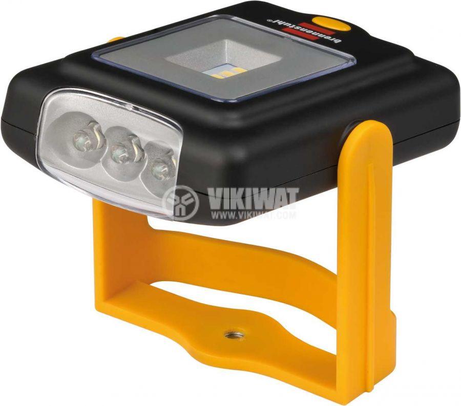 LED Universal Work Lamp, 4 + 3 LEDs, 200lm, 6500K, cool white, HL DB43 MH, Brennenstuhl, 1175420010 - 2