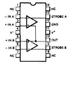Интегрална схема uA711 двоен компаратор - 2