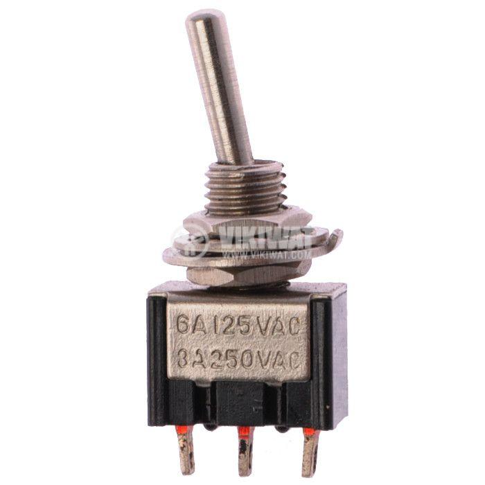 ЦК ключ MTS-112, 3А/250V, 6А/125VAC, SPDT, ON-(ON)