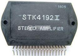 Integrated circuit STK4192, stereo-LF power amplifier, 2 X 50 W min, THD=0.004, split (bipolar) power supply - 1