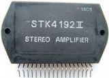 Integrated circuit STK4192, stereo-LF power amplifier, 2 X 50 W min, THD=0.004, split (bipolar) power supply