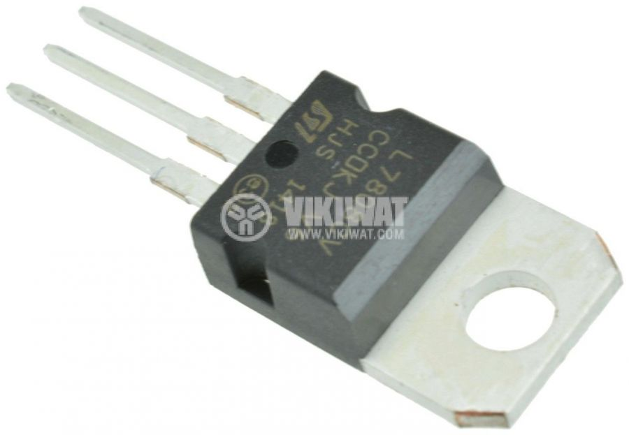 Интегрална схема L7808CV, линеен стабилизатор на напрежение 8V/1.5A, TO-220