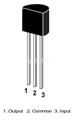 Интегрална схема 78L08 линеен стабилизатор на напрежение 8V/0.1A, TO92