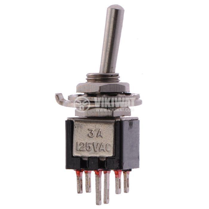 Toggle switch SMTS-202 1.5А/250VAC 3А/125VAC ON-OFF DPDT - 1