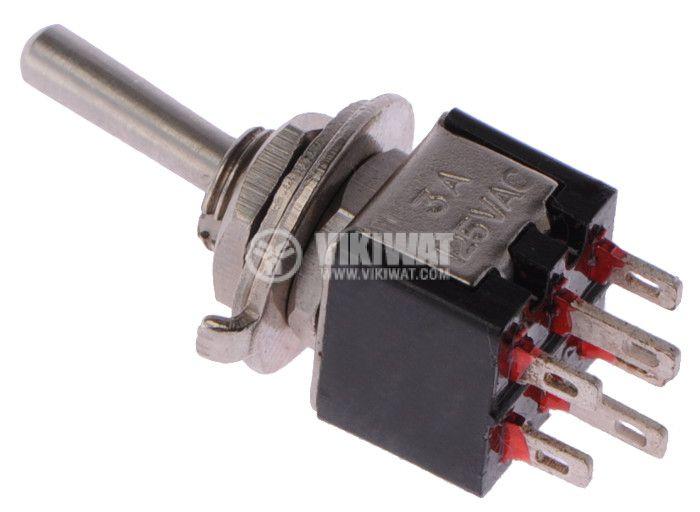 Toggle switch SMTS-202 1.5А/250VAC 3А/125VAC ON-OFF DPDT - 2
