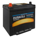Car battery, 70AH, starter, 12VDC, left +, DURACELL DA 70L