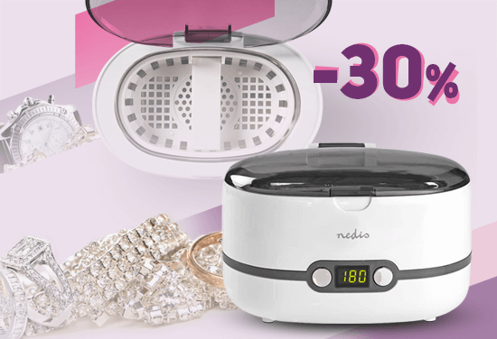 Bestseller -30% - Ultrasonic bath for cleaning jewelry, medical and cosmetic instruments, antiques, coins, toys, watch chains, auto parts and more.