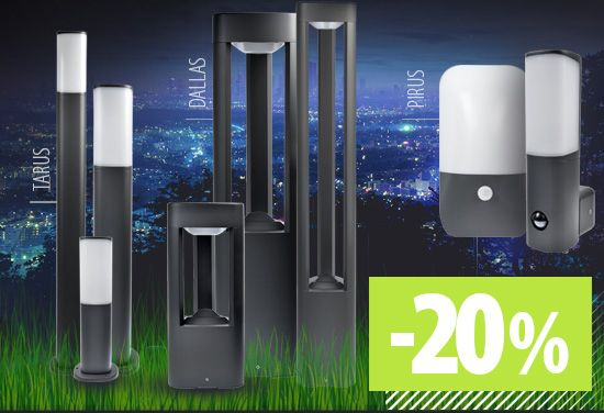 - 20% OFF for Braytron LED garden lighting with OSRAM LED technology included - modern and energy-efficient lighting